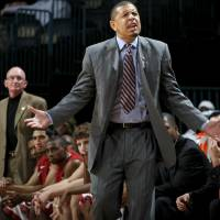 Photo - OU coach Jeff Capel reacts during the All-College Classic basketball game between the University of Oklahoma and Cincinnati at the Oklahoma City Arena on Saturday, December 18,  2010.   Photo by Bryan Terry, The Oklahoman