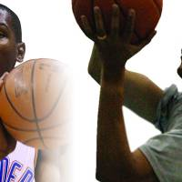 Photo - Thunder forward Kevin Durant, left, finally got his chance to play basketball with President Barack Obama, right. AP PHOTOS