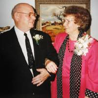 Photo - This photo of Boyd Haynes and Doris Haynes was taken on their 50th wedding anniversary in 1993. The couple were found dead after their house caught fire. Photo provided by the Haynes family  PROVIDED