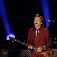 Photo - Paul McCartney performs on Thursday, Aug. 14, 2014, at Candlestick Park in San Francisco. San Francisco is saying goodbye to the stadium where its beloved Giants and 49ers celebrated some of their greatest triumphs. (AP Photo/Marcio Jose Sanchez)