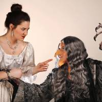 Photo -  Jill Pullen as Cinderella, left, encounters Hannah McCumber who plays the witch in