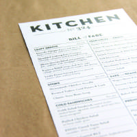 Photo - The proposed menu for the future Kitchen No. 324 is shown in this photo.  provided