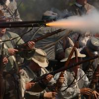 Photo - Historic re-enactors bring the Civil War battles fought in Oklahoma.ORG XMIT: 1001151719541421