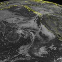 Photo - This NOAA satellite image taken Tuesday, Sept. 2, 2014 at 02:00 p.m. EDT shows newly formed Tropical Storm Norbert off of the western coast of central Mexico with maximum winds of 40 miles per hour moving north-northeast at 14 miles per hour. This storm is not currently expected to impact the coast. This image also shows lower stratiform cloud coverage along the California coast with clear skies over the southwestern United States as high pressure is pushing through the intermountain west. (AP Photo/Weather Underground)