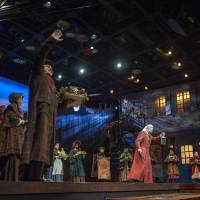 Photo - Christopher Bloch, center, an actor based in Washington, D.C., makes his Lyric Theatre of Oklahoma debut playing Ebenezer Scrooge in Lyric's third annual production of