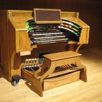 Photo - MUSICAL INSTRUMENT / REFURBISHED / ORGAN / RENOVATE: The Moller console after renovation.  PHOTO PROVIDED BY THE UNIVERSITY OF OKLAHOMAORG XMIT: 0909251621069959