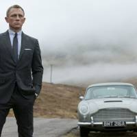 Photo -   This film image released by Columbia Pictures shows Daniel Craig as James Bond in the action adventure film,