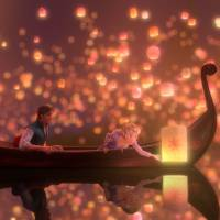 Photo - Flynn Rider (voice of Zachary Levi) and Rapunzel (voice of Mandy Moore) appear in a scene from the Disney animated feature