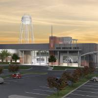 Photo - Left: University of Oklahoma officials broke ground on the university's new Radar Innovations Lab late last month. The lab will be the latest addition to OU's Research Campus.  Drawing PROVIDED