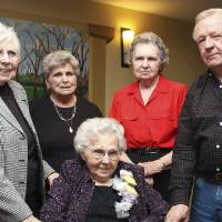 Photo - Nettie Stroud, Martha Shearer, Lenna LeCrone, Ray Bunnell Jr., and Ruth Bunnell, seated.  PHOTO BY DAVID FAYTINGER, FOR THE OKLAHOMAN