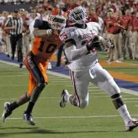 Photo -  Oklahoma Sooners running back Damien Williams (26) scores a touchdown past UTEP Miners defensive back Drew Thomas (10) on Sunday, Sept. 2, 2012, in El Paso, Tex. Photo by Chris Landsberger, The Oklahoman