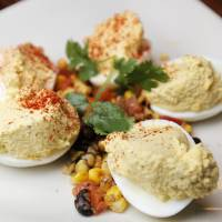 Photo - Spicy deviled eggs at Hollie's Flatiron Steakhouse. Photo by Nate Billings, The Oklahoman