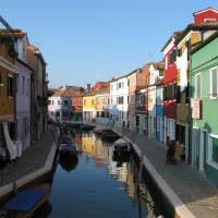 Photo - A view of Burano, an island in the Venetian Lagoon and home to many fishermen and lacemakers. The brightly painted houses help fishermen find their way home to their respective residences in the fog.  PHOTO PROVIDED BY DONALD BRANCH
