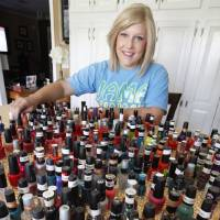 Photo - Lorelei Decker, a recent high school graduate who is battling cancer, shows her growing collection of nail polish she calls