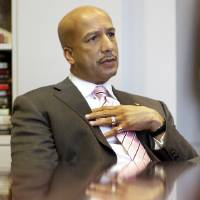 Photo - FILE - In this Tuesday, Dec. 23, 2008 file photo, New Orleans Mayor Ray Nagin speaks during an interview in his office at City Hall in New Orleans. The former New Orleans mayo was indicted Friday, Jan. 18, 2013 on 21 corruption charges including wire fraud, bribery and money laundering. The charges come from a City Hall corruption investigation that already has resulted in guilty pleas by two former city officials and two businessmen. (AP Photo/Alex Brandon)