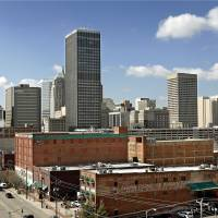 Photo - DOWNTOWN: With Bricktown in foreground, the Oklahoma City skyline is pictured on a sunny afternoon on Friday, March 7, 2008.  BY JIM BECKEL, THE OKLAHOMAN ORG XMIT: KOD