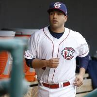 Photo - Jason Jaramillo of the Oklahoma City Redhawks stands in the dugout before a baseball game against the Round Rock Express at Chickasaw Bricktown Ballpark in Oklahoma City, Tuesday, April 16, 2013. Photo by Bryan Terry, The Oklahoman