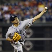 Photo - Colorado Rockies' Jorge De La Rosa pitches during the second inning of a baseball game against the Philadelphia Phillies, Tuesday, May 27, 2014, in Philadelphia. (AP Photo/Matt Slocum)