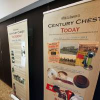 Photo - Displays show some of the items found in the