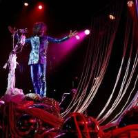 """Photo -  Wayne Coyne with The Flaming Lips performs during the """"Rock for Oklahoma"""" tornado relief concert at the Chesapeake Energy Arena in OKlahoma City, Tuesday, July 23, 2013. Photo by Bryan Terry, The Oklahoman Archive"""
