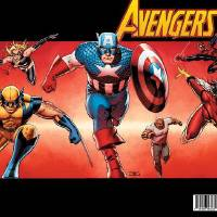 Photo - Former Oklahoman John Cassaday created this variant cover homaging the Avengers comics of the 2000s. Marvel Comics.