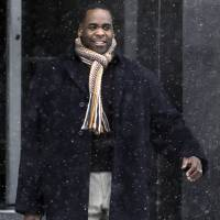 Photo - FILE - In this Jan 25, 2013 file photo, former Detroit Mayor Kwame Kilpatrick leaves federal court in Detroit. A court spokesman said Monday, March 11, 2013, that jurors have reached a verdict in Kilpatrick's corruption trial. (AP Photo/Paul Sancya, File)