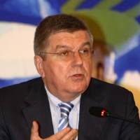 Photo - IOC President Thomas Bach speaks during a press conference in Pyeongchang, South Korea, Wednesday, July 2, 2014. Bach said the world body is confident that Pyeongchang can organize