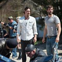 "Photo -  HAVEN -- ""Fallout""  Episode 401 -- Pictured: (l-r) Eric Belfour as Duke Crocker, Lucas Bryant as Nathan Wuornos -- (Photo by: Michael Tompkins/Syfy)"