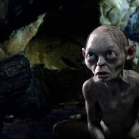 Photo - FILE - This publicity file photo released by Warner Bros., shows the character Gollum voiced by Andy Serkis in a scene from the fantasy adventure