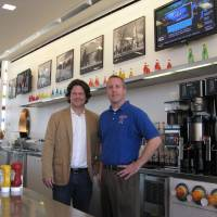 Photo - Keith Paul has joined with Marty Doepke, manager of POPS, to revamp the Route 66 cafe. 	PHOTO BY STEVE LACKMEYER, THE OKLAHOMAN 		ORG XMIT: 0902252222419148