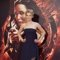 Photo - Actress Jennifer Lawrence poses for photographers during the Spanish premiere of the movie