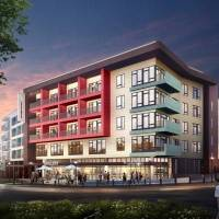 Photo -  LIFT, a 329-unit apartment complex, is set to be built next year overlooking the roundabout at NW 10 and Shartel Avenue in Midtown.    Provided