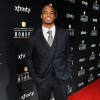 Photo - Adrian Peterson of the Minnesota Vikings arrives at the 2nd Annual NFL Honors on Saturday, Feb. 2, 2013 in New Orleans. (Photo by Jordan Strauss/Invision/AP)