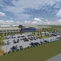 Photo -  Plans for the new Baker Hughes manufacturing plant in northwest Oklahoma City are shown in this conceptual rendering. DRAWING PROVIDED    -