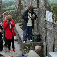 Photo - Tourists come in droves to smooch Ireland's Blarney Stone (said to make you silver-tongued), but I'd rather kiss a horse. (Photo by Rick Steves)