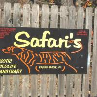 Photo - The entrance to Safari's Exotic Wildlife Sanctuary is seen in this photo by Larry Levy.