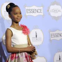 Photo - Actress and Academy Award nominee Quvenzhane Wallis, recipient of the Breakthrough Performance award, poses at the 6th Annual Black Women in Hollywood Luncheon at the Beverly Hills Hotel on Thursday, Feb. 21, 2013 in Los Angeles. (Photo by Chris Pizzello/Invision/AP)