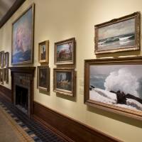 Photo - This May 2, 2014 photo shows paintings by artist Winslow Homer mounted in the Arkell Museum in Canajoharie, N.Y. The museum, started in 1928 by Bartlett Arkell, founder of the Beech-Nut food company, is located next door to company's former plant in Canajoharie, population 2,200. (AP Photo/Mike Groll)