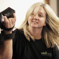 Photo - Lila Judkins practices self-defense moves with instructor Ben Daves during a four-week self defense class being held for city female employees.