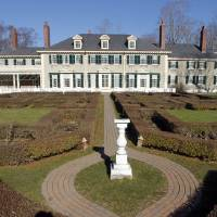 Photo -   This Monday, Nov. 19, 2012 photo shows the Robert Todd Lincoln mansion Hildene in Manchester, Vt. The Georgian Revival home was built in 1905 by Robert Todd Lincoln, the only one of the president's four children to survive to adulthood. (AP Photo/Toby Talbot)