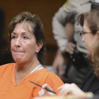 Photo -   Sherri Wilkins, a substance abuse counselor, appears in Los Angeles Superior Court in Torrance, Calif., Tuesday, Nov. 27, 2012. Wilkins, 51, who was allegedly driving under the influence, has been accused of striking a pedestrian and then driving for more than two miles with the dying victim lodged in the windshield and on the hood of her car. Los Angeles County prosecutors have filed murder and drunken-driving charges against Wilkins. The victim, Phillip Moreno, 31, died later at a hospital. At right is public defender Ethna Burns. (AP Photo/Brad Graverson, Daily Breeze, Pool)