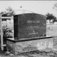 Photo - John Golobie's monument in Guthrie's Summit View Cemetery, shortly before its unveiling in 1929. PHOTO FROM THE OKLAHOMAN ARCHIVES.