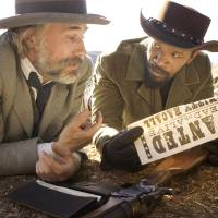 "Photo -  This undated publicity image released by The Weinstein Company shows, from left, Christoph Waltz as Schultz and Jamie Foxx as Django in the film, ""Django Unchained,"" directed by Quentin Tarantino. Waltz was nominated Thursday, Dec. 13, 2012 for a Golden Globe for best supporting actor for his role in the film. The 70th annual Golden Globe Awards will be held on Jan. 13.  (AP Photo/The Weinstein Company, Andrew Cooper, SMPSP) ORG XMIT: NYET737"