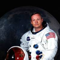 Photo -   FILE - In undated photo provided by NASA shows Neil Armstrong. The family of Neil Armstrong, the first man to walk on the moon, says he has died at age 82. A statement from the family says he died following complications resulting from cardiovascular procedures. It doesn't say where he died. Armstrong commanded the Apollo 11 spacecraft that landed on the moon July 20, 1969. He radioed back to Earth the historic news of