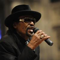 Photo -   FILE - In this Jan. 18, 2010 file photo, master of ceremonies Chuck Brown speaks during a program to celebrate the legacy of the late Martin Luther King, Jr. at the Washington National Cathedral in Washington. Brown, who styled a unique brand of funk music as a singer, guitarist and songwriter known as the
