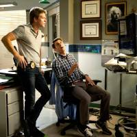 """Photo -  From left, Matt Passmore and Jordan Wall are shown in a scene from """"The Glades."""" - Photo credit: ©2013 A+E Networks / Photo credit: Jeff Daley"""