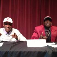 Photo - L.J. Moore and Hatari Byrd, University of Oklahoma (OU) college football signees. PHOTO PROVIDED