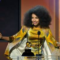 Photo - Esperanza Spalding accepts the jazz vocal album for