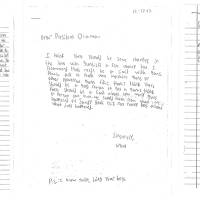 Photo - These letters, provided by the White House, from children, from left, Julia, 11, of Washington; Grant, 8, of Maryland, and Taejah, 10 of Georgia; ask President Barack Obama to change gun laws. On Wednesday, when the president makes his long-awaited announcement of proposals to reduce gun violence, he will be joined by Grant, Tajeah and other children from across the U.S. who expressed their concerns about gun violence and school safety to the one person they think can make a difference: the president. (AP Photo/White House)