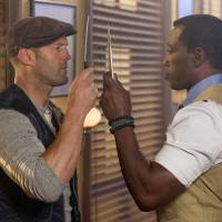 Photo - This image released by Lionsgate shows Jason Statham, left, and Wesley Snipes in a scene from